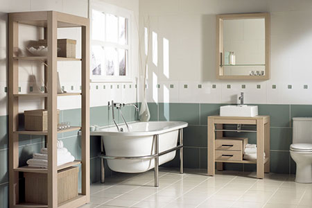 Bathroom design from Lenzie Plumbing