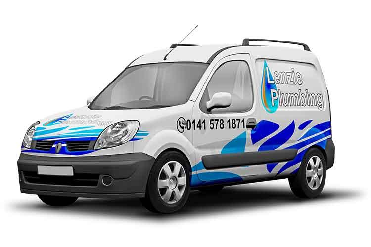 Lenzie Plumbing Van